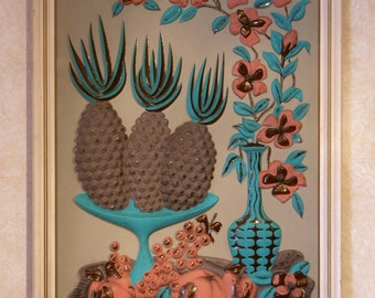 50's Formed Plastic Wall Art