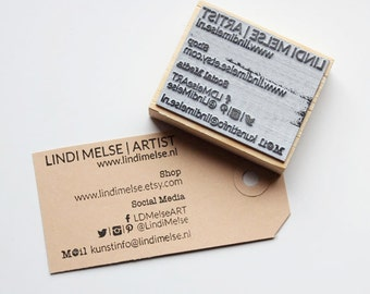 Your business card as stamp!