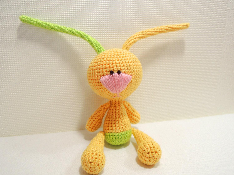 Crochet Art Doll Funny Bunny Amigurumi Cute stuffed by ...