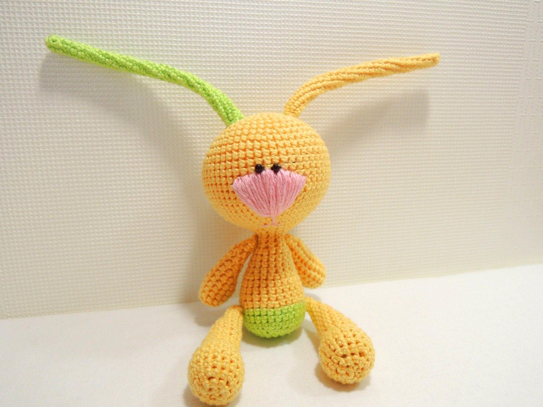 Etsy Amigurumi Bunny : Crochet Art Doll Funny Bunny Amigurumi Cute stuffed by ...