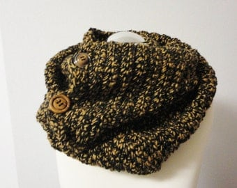 Tube scarf warm brown Winter
