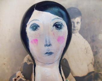 SOLD.  Original Art Doll.