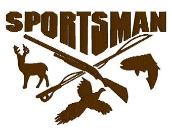 BUY 2, GET 1 FREE - Sportsman Deer, Duck, Fish, Hunting Season Machine Embroidery Design in 3 Sizes - 4x4 5x7, 6x10