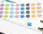 36 Video Camera Stickers! Perfect for your Erin Condren Life Planner, Filofax, Kikkik, Plum Paper, or scrapbooking! #SQ00469