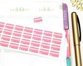 42 Small Pink Credit Card Stickers! Perfect for Erin Condren Life Planner, Filofax, Kikkik, PlumPaper & other planner, scrapbooking #SQ00190