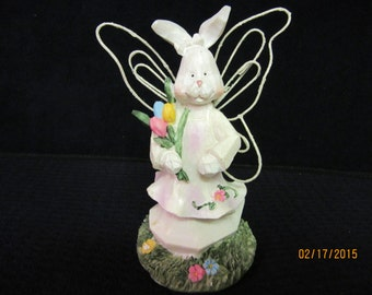 Rabbit Bunny Easter, Girl Bunny with wire glitter wings