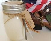 Nashville (Leather Vanilla) - 100% Handmade Soy Candle - Ball Mason Jar