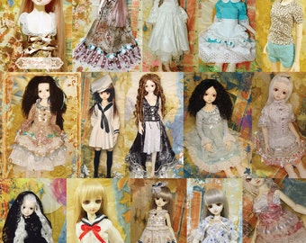 BJDs Pattern Book Vol 3-Basic Girls for doll 40-60cm
