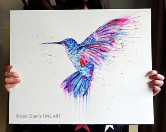 hummingbird- mounted original painting
