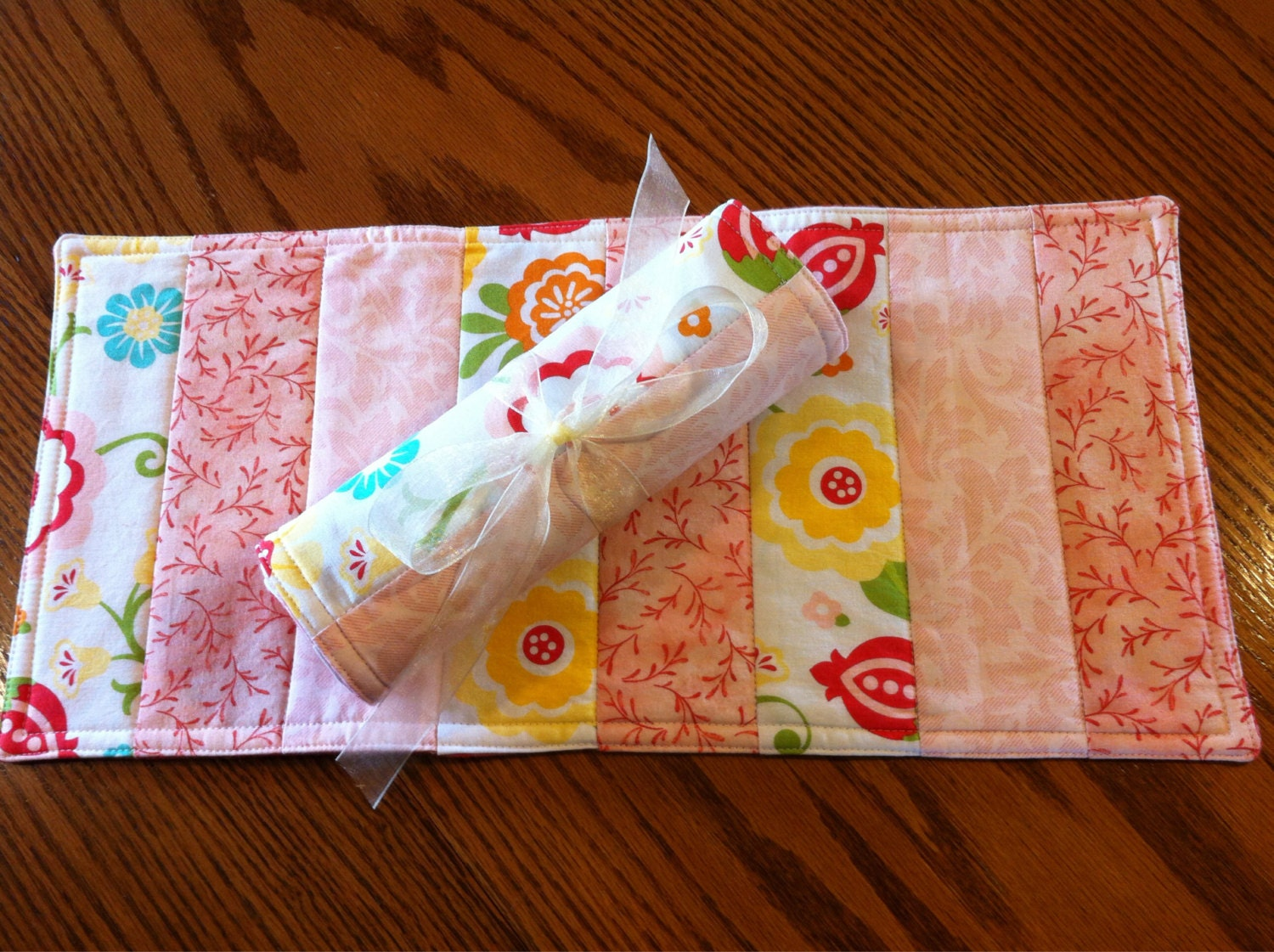 Baby Girl Burp Cloths Quilted Butpies Coral and by