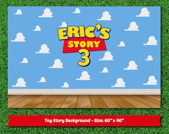 Personalized Toy Story dessert table backdrop (digital file)