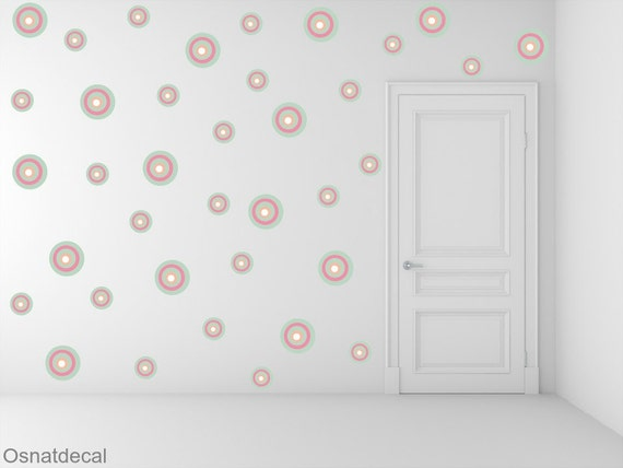 FREE SHIPPING Colorful Dots. 2 Sizes.78 Wall Decal. Nursery Decal. Kids Wall Decal. Vinyl Wall Decal.