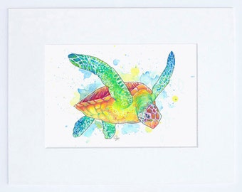 Green Sea Turtle High Quality Fine Art Print