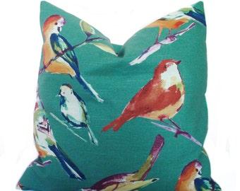 Throw pillow, Decorative pillow cover, Bird pillow, Sofa cushion, Couch pillow, Toss pillow, Sham, 18x18, 20x20, 22x22, 24x24, 26x26