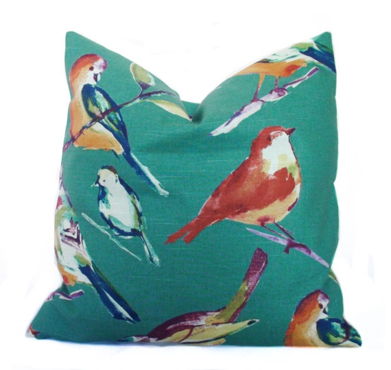 Newport Throw Pillows Birds : Throw pillow Decorative pillow cover Bird pillow Sofa