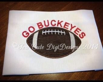 Go Buckeyes!  Ohio State Buckeyes Football Applique Design - Instant Download
