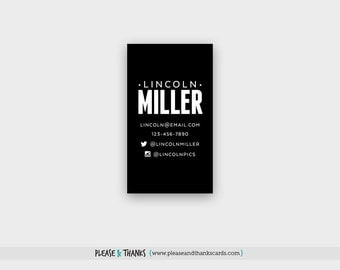 Black & White Printable Keep-In-Touch Card