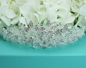 Swarovski Crystal Bridal tiara headpiece, wedding tiara, wedding headpiece, rhinestone tiara, crystal tiara, crystal bridal tiara 210700784