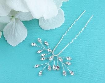 Swarovski crystal wedding hair pin, bridal hair accessories, rhinestone hairpin, crystal bridal hair pearl, bridal hairpins, pin 223950099