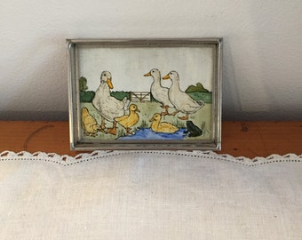 vintage pin dish  with ducks