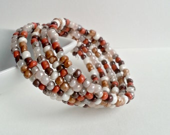 Memory wire, Warm Fall colors, memory wire bracelet