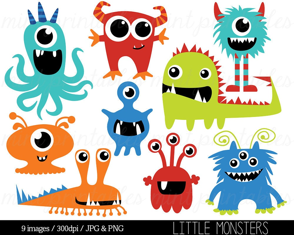 Monster Clipart Monsters Clip Art Birthday by mintprintables