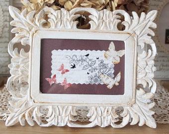 Old, wood, patina - spirit shabby chic frame