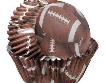 Football ColorCups Wilton Greaseproof Cupcake Liners Baking Cups Muffin Cups