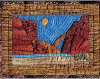 southwest landscape quilt pattern, applique, miniature, Moab