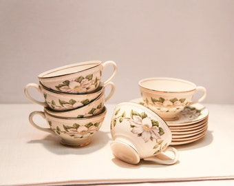 Eggshell Georgian Homerlaughlin teacup