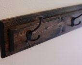 """Wood Coat Rack Hanger, Mud Room Organization, Entryway Coat Hook Board in Multiple Lengths- 24"""", 36"""", 48"""", 60"""", 72"""""""