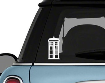 TARDIS Police Call Box DR WHO Minimalist Vinyl Removable Car Decal