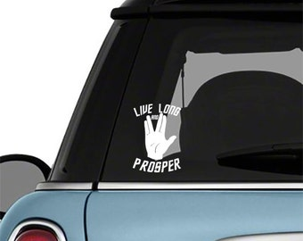 Star Trek Live Long and Prosper Vulcan Salute Car Decal