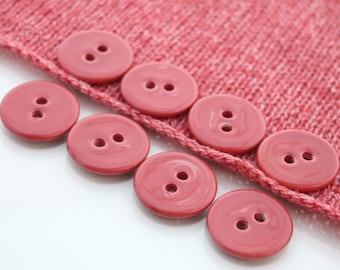 "8 Large Raspberry Pink Ceramic Buttons (27mm / 1.1"")"