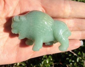 Aventurine Buffalo Carving