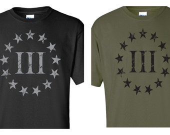 km outfitters tactical t shirts three percenter shirt. Black Bedroom Furniture Sets. Home Design Ideas