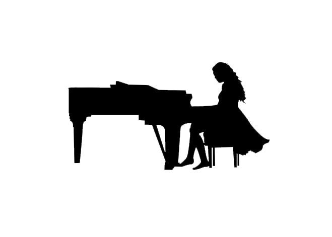 Female Piano Player Silhouette | www.pixshark.com - Images ...