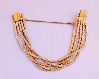 Winard Bracelet- 12K Gold Filled Multi-Strand Bracelet G.F.- Wedding, Bride, Bridal Jewelry, Maid of Honor, Mother of the Bride
