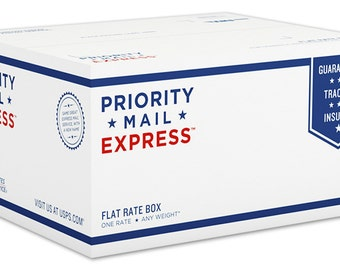 1-2 Days: USPS Priority Mail EXPRESS