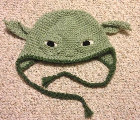 Star Wars Yoda Inspired Crochet Ear Flap Hat