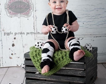 Soccer Leg Warmers with Matching Headband Newborn Photo Prop Baby Shower Gift