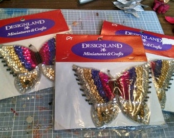 Designland  Sequin Butterfly Applique