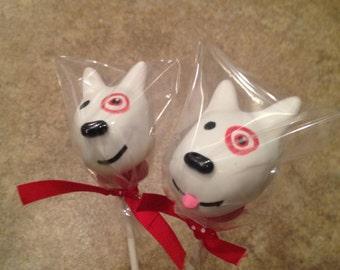 Bullseye Target Dog Cake Pops
