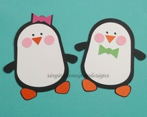 Penguin die cut, penguin diecut, penguin cutouts, penguin embellishments, DIY penguin party, penguin birthday party, DIY penguin baby shower