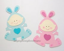 Baby Spring bunny diecut, Easter bunny diecut, baby Easter bunny, DIY baby Easter, baby bunny first birthday, bunny baby shower