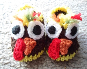 Very adorable Thanksgiving Booties/Shoes Available in Sizes: Newborn-12 Months.
