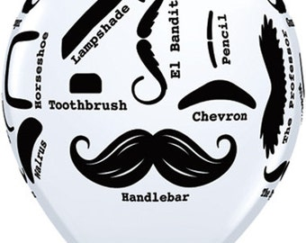 "10-11"" inch  Mustache balloons 11 Inch latex Balloon  Party  Decor prop ""Same Day Shipping"""