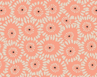 Crib/Toddler fitted bed sheet, rapture, coral, floral