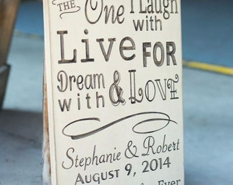 Personalized Carved Wooden Sign - Wedding - Today I Marry My Best Friend