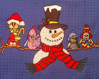 Snowman and friends 5x7